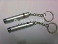 500PCS / الكثير # جديد 2 في 1 الضوء الأبيض والأحمر القلم مؤشر ليزر سلسلة المفاتيح مفتاح سلسلة المصباح ضوء فلاش FEDEX شحن مجاني 0001