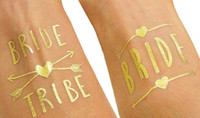 hot sale Bachelorette Party Temporary Tattoos Glitter Metall...