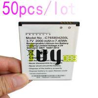 50 قطعة / الوحدة 2000 مللي أمبير C765804200L استبدال البطارية ل blu الحياة 8 Life8 L280 L280a فوز hd W510 W510U بطاريات