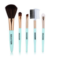 Pro 5 PCS Maquillage Brush Set Outils Fondation Maquillage Trousse De Toilette Sourcils À Paupières Brosse Make Up Blush Set Livraison Gratuite