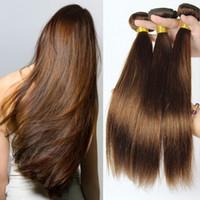 # 4 marrone medio indiano capelli trame setosi capelli umani diritti offerte 7a capelli umani indiani non trasformati capelli castani marrone tesse