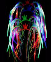 تفضل فلاش LED المعكرونة حزب العصابة الهذيان ملابس تنكرية وامض تضيء الضفائر ولي العهد الشعر Hairband رباطات عيد الميلاد الاحتفالية
