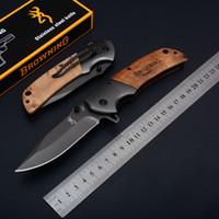 Cuchillo plegable táctico 354 de titanio grande Browning Clip de apertura al aire libre Caza para acampar de supervivencia Utilidad de bolsillo EDC Herramientas Colección de regalos