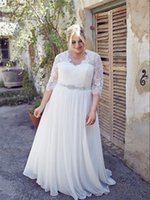 vestidos de noivas para casamento plus size half sleeves wedding dress bridal gown custom size 16 18 20 22 24 26