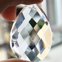 Nuovo Clear Waterdrop Crystal Ball Sphere Prisma Pendente Spacer Beads Luce Lampadario Lampadario Hanging Decoration per la Festa Nuziale a casa