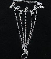 Pieds nus Bracelets de cheville Sandales pied Bijoux Plage danse de mariage de danse latine cheville Bracelet chaîne de diamant de mode mariée Plage Partry Bijoux