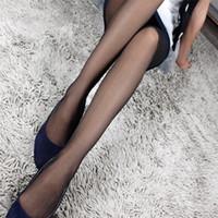 الجملة-جنسي المرأة الصيف جوارب طويلة رقيقة شبه شير الجوارب كامل القدم جوارب طويلة سراويل نحيل