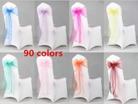 Beautiful Organza Bows For Wedding Chair Sashes For Wed Even...
