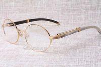 2019 новые ретро рамы высокого класса моды смешанные очки 7550178 мужские и женские модели круглые очки, размер: 57-22-135 мм