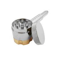 35mm liga de zinco Dual Purpose Grinder seis atirador de tubulação 12 cm cachimbo de fumar cachimbo de ervas moedor de cachimbo