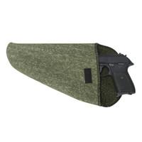 Toery Shooting Tactical Siliconen Behandelde Pistool Opbergcase Pistool Vuurarme Sokken Pouch Holster Piatol Protector Groene Stof 26cm