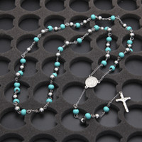 Rosary Pendant Necklace NEW Catholic Virgen de Guadalupe Sil...