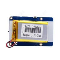 Freeshipping Raspberry Pi 3 Scheda di espansione per batterie al litio con 3.7V 3800mAh Batteria al litio Fonte di alimentazione per cellulare Raspberry Pi