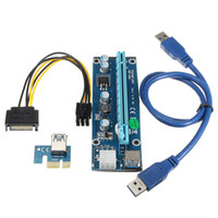 USB 3.0 15 Pin PCIE Card PCI-E Express 1X to16X Extender Riser Card Board кабель-адаптер SATA 15-контактный кабель питания 60 см