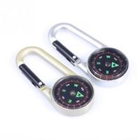 Großverkauf-Neue Ankunfts-Wölbungs-Legierungs-wasserdichte Multifunktionswerkzeuge, die wandernden Bergsteigen Portable Mini Kompass Keychain reisen