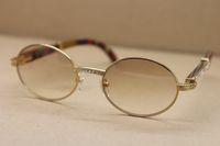 Dekor Pfau Holzrahmen 7550178 runde Metall Diamant Sonnenbrille C Dekoration Goldrahmen glasseFrame Größe Sonnenbrille populären Mens: 55-22-135mm