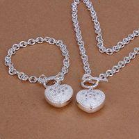 أعلى مبيعات المرأة الاسترليني الفضة مطلي مجوهرات مجموعة DMSS025، عالية الجودة 925 لوحة فضي الرقبة مجموعة أسر
