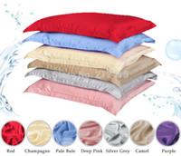 Atacado 100% fronha de seda pura oxford fronha travesseiro sham transporte livre tamanho padrão rainha rei tingido muitas cores
