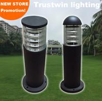 110 В 220V Ландшафт Past Post Polle Light Lamp Водонепроницаемый Наружный проект Садовый Газон Лампы Столбар Columnrod Bollard