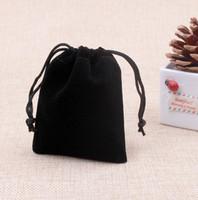 Бархат ювелирные изделия мешки 5x7cm черный подарки сумки строка ювелирные изделия сумки ювелирные изделия Packageing случаи Рождественский подарок мешки