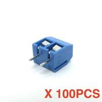 Darmowa Wysyłka (100 sztuk / partia) KF301-2P KF301-5.0-2P Blue Connect Terminal strainght Pin PCB Złącze śrubowe Złącze śrubowe