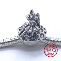 Forest Fairy and Mushroom Charm 100% 925 Sterling Silver Beads Fit Pandora Charms Bracelet DIY Fashion Jewelry