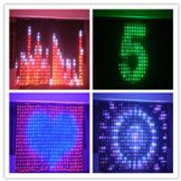 P18 3Mx4M LED Video Cloth DJ Vision Curtain,DMX LED Vision Curtain,Flexible Display,LED Video Curtain,LED DJ Stage Backdrops
