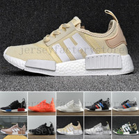 Hot Cheap NMD R1 Monochrome Primeknit PK Running Shoes For M...