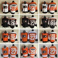 New Arrival. Philadelphia Flyers 28 Claude Giroux Jersey Men 27 Ron Hextall  88 Eric Lindros 26 Brian Propp Vintage Classic Orange White Black 5308edb87