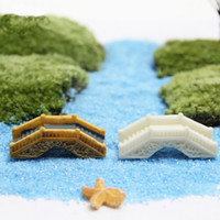 Ponte in resina Giardino delle fate Miniature Mini arco Ponte Giardino di casa Decorazione Artigianato Statuette Moss Terrarium Micro Landscape