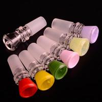 PERFEITO COR Vermelho Amarelo Verde Rosa Luz-Verde Roxo 14mm Tigela De Vidro para Bongos de Tubulação De Água Bongos Tubos Acessórios de Fumo Tigelas