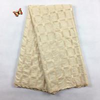 Sıcak Satış Afrika Lehçe Pamuk Vual dantel, 2071 Ücretsiz Kargo (5 metre / paket), 100% pamuk Afrika Düğün Erkekler Dantel Elbise