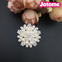 Flower Pearl Rhinestone Embellishment Flat Back Buttons for ...