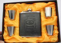 Z1120 новое прибытие 304 нержавеющей стали бутыль портативный 7 унций фляга + 4 шт. небольшой кубок вина без подарочной коробке набор