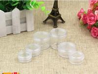 Plastik Krem Kavanoz 2g, 3g, 5g gevşek toz kavanoz temizle renk krem kavanoz, göz farı durumda kozmetik ambalaj