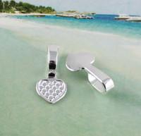 kefalet Charms kolye Tepsi üzerinde 100 ADET Gümüş kalp tutkal