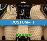 Veeleo + Custom Fit 6 Farben Leder Auto Fußmatten für BMW-M1 / M3 / M4 / M5 / XM5 / XM6 Wasserdichte rutschfeste 3D Auto Fußmatten Vorne Hinten Teppich Linie