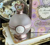 Les Merveilleuses Laduree Limited Edition وعاء للوجه لون روز مسحوق استحى حامل الجمال مستحضرات التجميل خلاط ماكياج مع صندوق البيع بالتجزئة