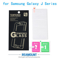 50 adet Samsung Galaxy J Serisi için Temperli cam Ekran Koruyucu Samsung Galaxy Için J1 J2 J3 J5 2015 2016 2017 film kapak
