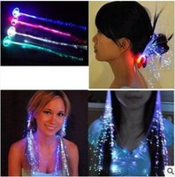 HOT LED Flash Braid Toys for Night Party Hair Decoration Fib...