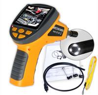 """LCD imperméable 3.5 """"caméra 10mm tube endoscope endoscope d'inspection de serpent"""