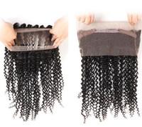 Brasilianska Human Virgin Remy Hair 360 Lace Frontal Straight Kinky Curly Produkt Naturlig Svart Färg 130% Desnity