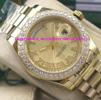 Luxury Watches Mens 18kt Gold Date Gold Dial Roman 118348 Di...
