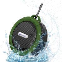 جديد C6 المحمولة اللاسلكية المتكلم دعوة يدوي للماء بلوتوث الحمام الصوت مربع الصوت لفون سامسونج