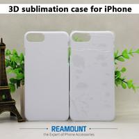Venta al por mayor en blanco 3D Cajas de PC de sublimación para iPhone 8 8 Plus Funda de teléfono para iPhone X Área completa Funda de teléfono impresa