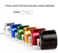 Vier Schichten Rocker Fräsen Hand schütteln 63mm CNC Kräutermühle