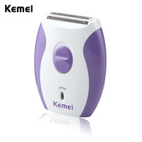 Kemei KM-280R Women Rechargeable Epilator Little And Dainty Feminine Electric lady Shaver Hair Removal Shaving Products