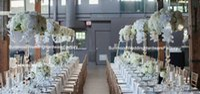 Luxe mariage grand acrylique belle fleur stand centre de table pour la décoration de mariage pas cher