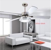 Moderne LED Verstellbare Deckenventilator Licht Eisen Mode Einfache  Deckenleuchte 42 Zoll 107 Cm Deckenventilator.
