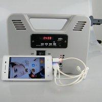 Sistema de energía solar 6W generador solar portátil Inicio Panel solar luz Kit Salida USB para acampar / senderismo / uso en el hogar con 2 LED lámpara